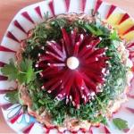 простой салат аленький цветочек,фото