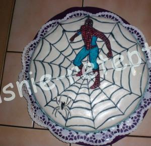 торт человек паук, Детский торт на день рождение