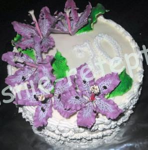 торт с цветами, фото