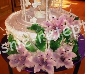цветы из марципана, фото