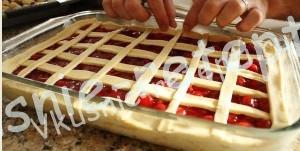 вишневый пирог, фото