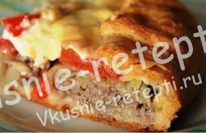 мясной пирог, фото