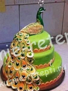 оригинальный торт павлин, Торты на день рожденья