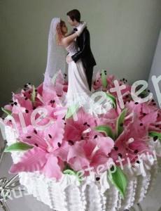 шикарный свадебный торт, фото