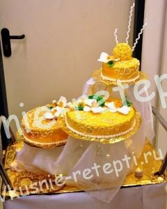 торт на золотую свадьбу, фото