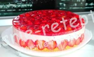 торт с клубникой, фото