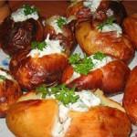 запеченный картофель в духовке, фото