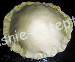 пирог из слоеного теста, фото