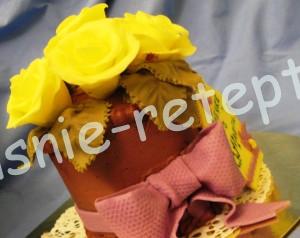 торт букет, фото