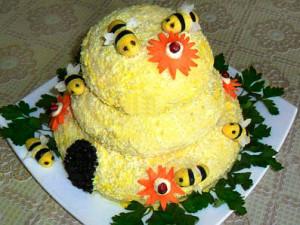 салат пчелиный домик фото