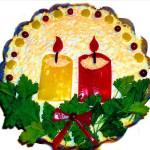 салат Рождественские свечи фото