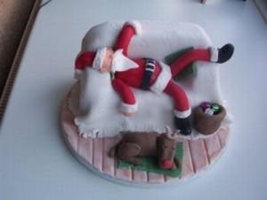 Торт на рождество дед мороз