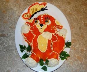 новогодний салат лисья шуба фото