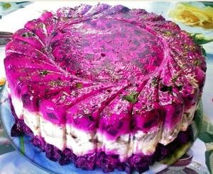 салат шуба Желатиновый фото