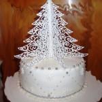 торт елка из айсинга фото
