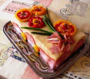 бутербродный торт фото