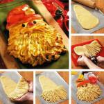новогодний пирог Дед Мороз фото
