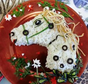 салат  лошадь рецепт с фото