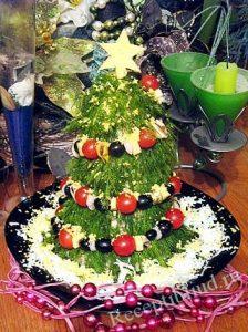 салат новогодняя елка фото