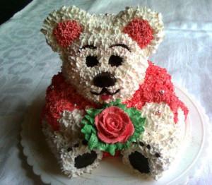 Детский торт Мишка фото