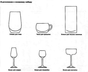 бокалы для сервировки стола фото