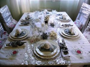 домашняя сервировка стола фото