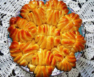 пирог цветок фото