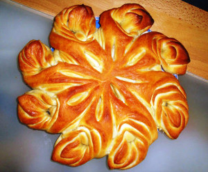 пирог в виде цветка фото