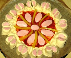 пицца в форме цветка фото