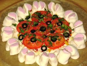 пицца в виде цветка фото