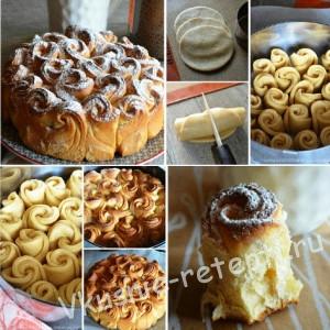 Пирог букет роз рецепт фото