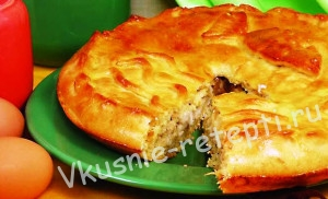 пирог с рыбной начинкой рецепт с фото