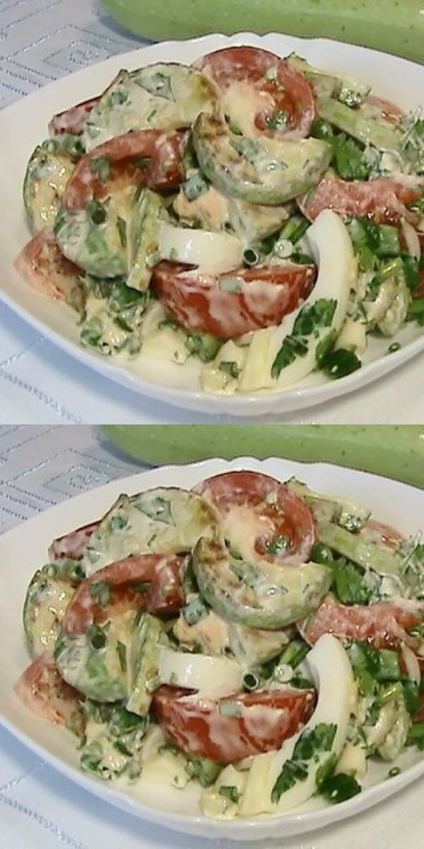 Салат с жареными кабачками — будете делать снова и снова