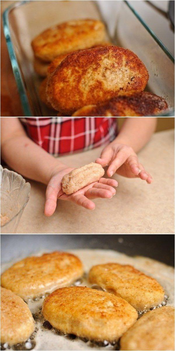 Подсела на куриные котлеты с сыром по этому рецепту.