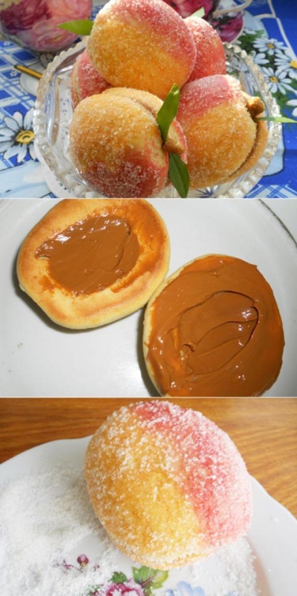 Печенье-пирожное «Персики» по-особенному. Необычно и очень вкусно!