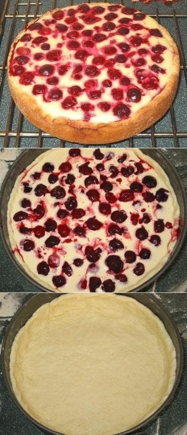 Пирог-сметанник с ягодами… когда нет времени и особо средств «разгуляться»!